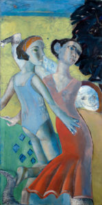 Christine Krämer · Untitled · 1987 · 90 x 150 cm · oil on canvas