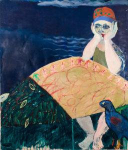 Christine Krämer · Ophelia · 1986 · 120 x 140 cm · oil on canvas
