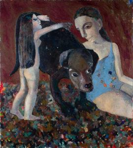 Christine Krämer · Untitled · 1987 · 100 x 100 cm · oil on canvas