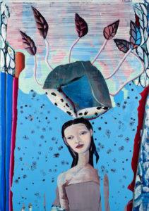 Christine Krämer · Astronaut 14 · 2020 · 85 x 120 cm · oil on canvas