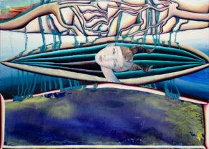 Christine Krämer · Astronaut 16 · 2020 · 85 x 120 cm · oil on canvas