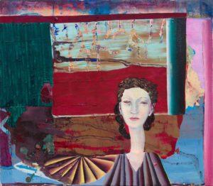 Christine Krämer · Astronaut 23 · 2021 · 70 x 80 cm · oil on canvas