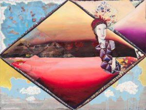 Christine Krämer · Astronaut 21 · 2021 · 120 x 160 cm · oil on canvas
