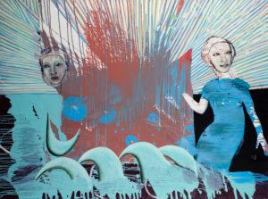 Christine Krämer · Astronaut 20 · 2021 · 120 x 160 cm · oil on canvas